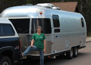 Airstream at Crater with Lynn