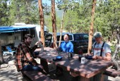 Campsite at Lakeview CG in CO 2014