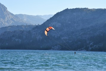June Lake windsurfer