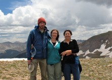 Lief Jeannie and Lynn on Independance Pass