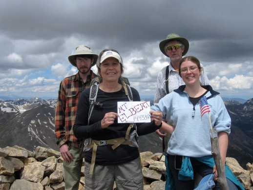 Mt Elbert peak 2014