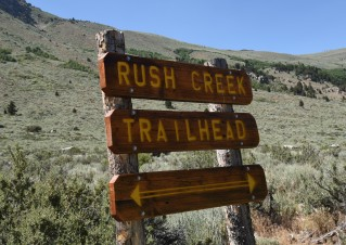 Trailhead sign Rush Creek