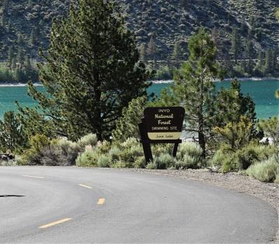 june-lake-beach-sign