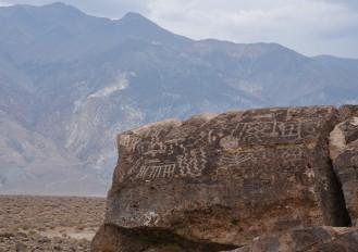 Petroglyphs in Owen's Valley