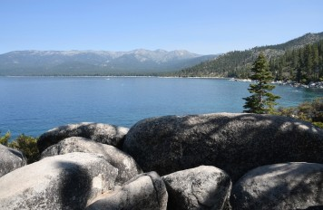 Lake Tahoe from Nevada side looking west