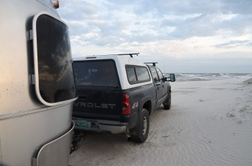 camped-on-beach-at-padre-island