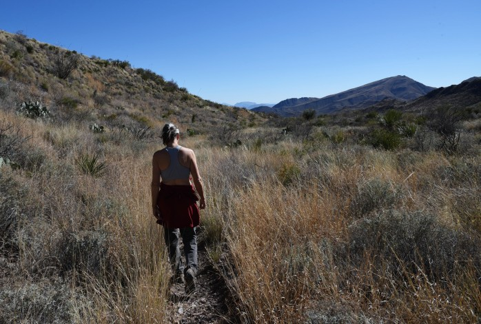 lynn-hiking-juniper-canyon-trail