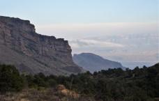 Sierra del Carmen way off in the distance