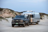Beach camping at Padre Island NP
