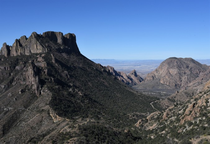 Lost Mine Trail view towards Chisos Basin