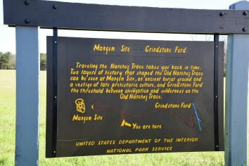 Interpretive signs along the parkway give some general history of the trace