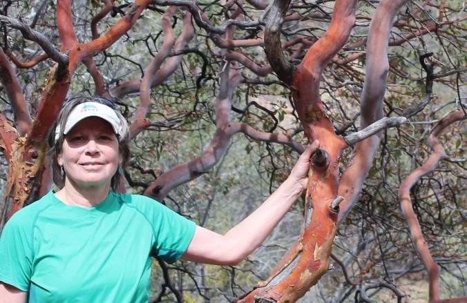 Pinnacles Trail Lynn and madrone 2014