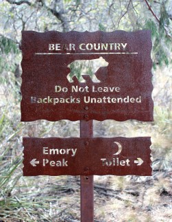 Big Bend does a great job with bear protection