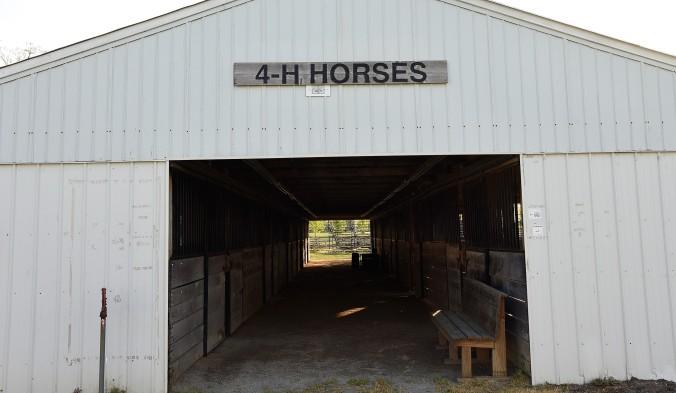 4-H horse barn