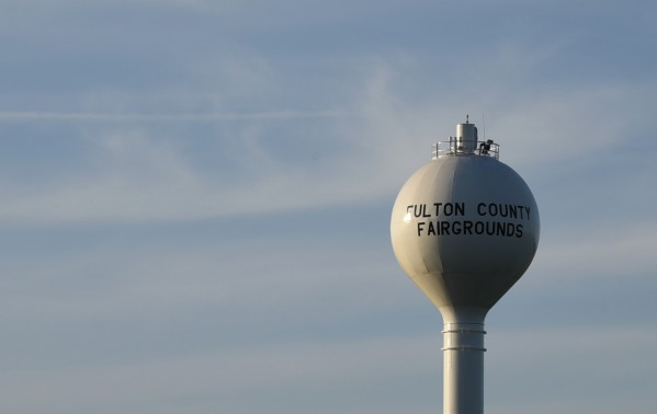 Fulton County Fairgrounds water tower