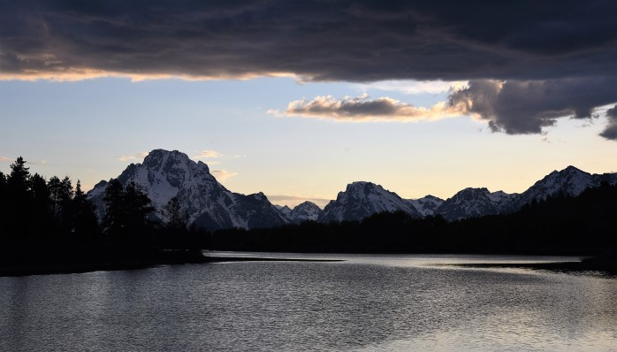 Oxbow Bend at sunset