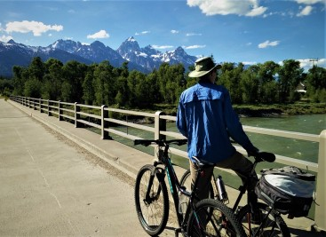 The Bike Trail passes over the Snake River near Moose Junction. Can never get enough of enjoying the Snake River!