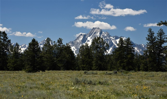 View of Tetons from Pilgrim Creek Road