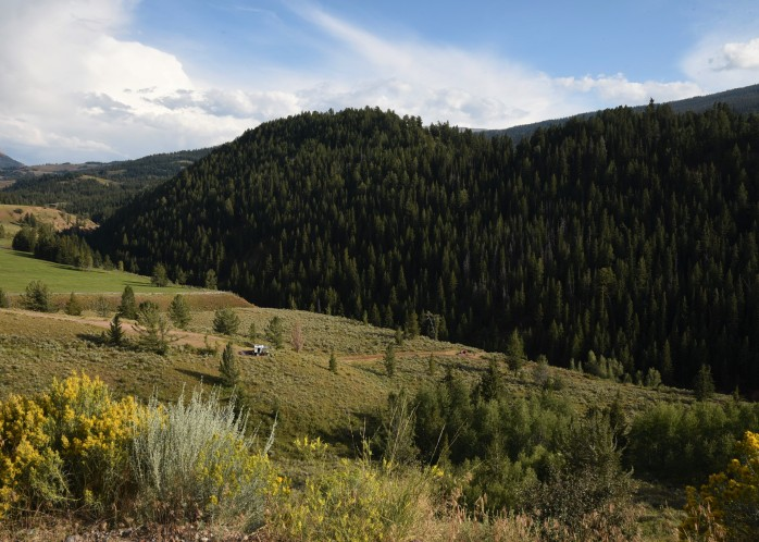 Boondocking spots along Gros Ventre road