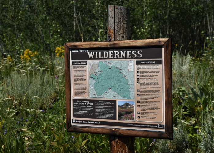 Gros Ventre Wilderness sign
