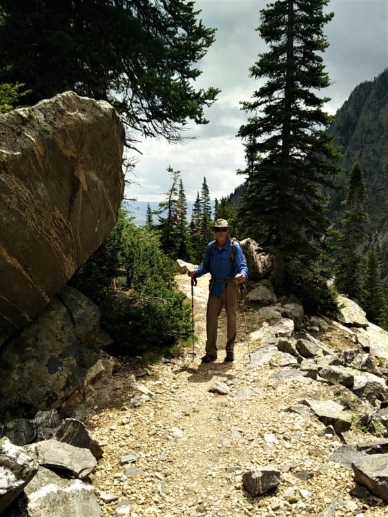 Jim on Death Canyon Trail 2
