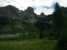 Meadow above the Alaska Basin trailhead