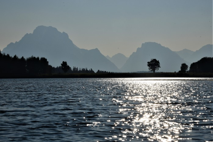 Oxbow Bend haze over tetons