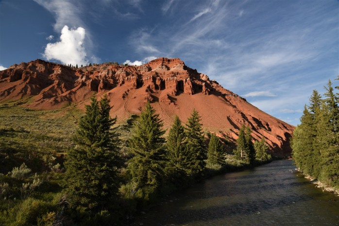 Red Hills along creek