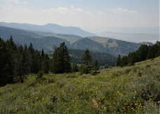 Long range views were hazy due to forest fires in Idaho and Montana