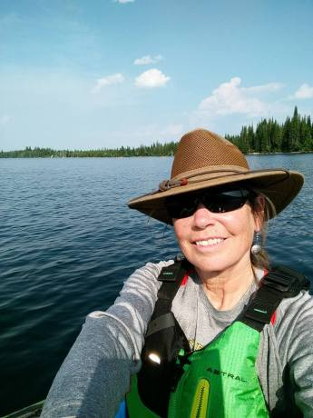 Selfie - kayaking Jenny Lake