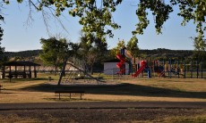 Nice big playground for campers with small children..
