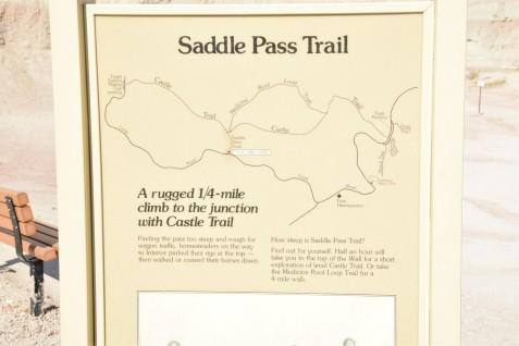 Sign warns of steep climb