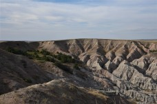 Sun setting over the badlands - view from our chairs
