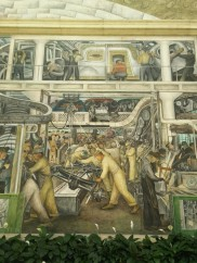 Diego Rivera frescoes - fascinating to learn he was creating these murals around the same time that Orozco was working on the murals at Dartmouth