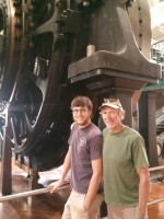 Jim and Luke in front of the Highland Park generator - one of 9 that powered the original Ford plant