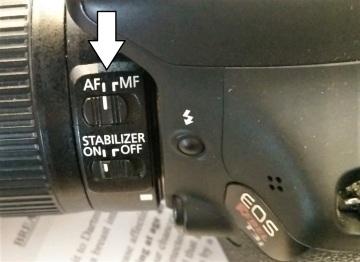 Canon's Auto-focus settings on lens