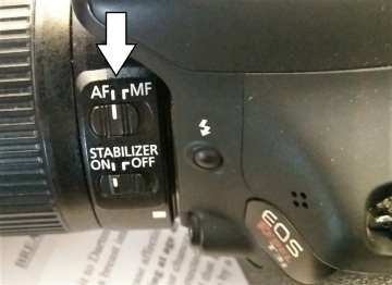 Canon's Auto-focus settings on lens