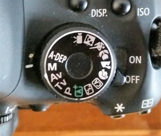 Canon Rebel T3i mode dial
