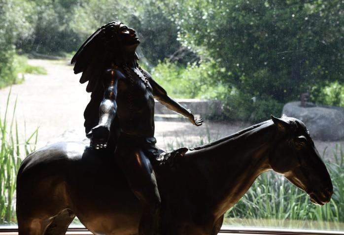 Sculture at Rockfeller Preserve visiting center
