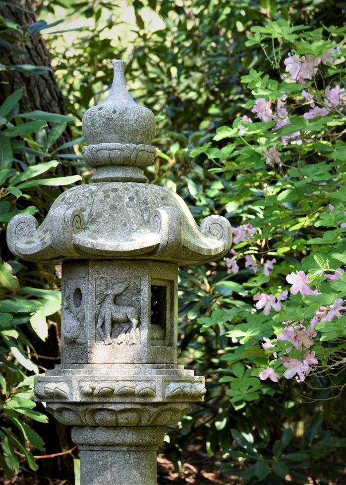 Sculpture with azalea