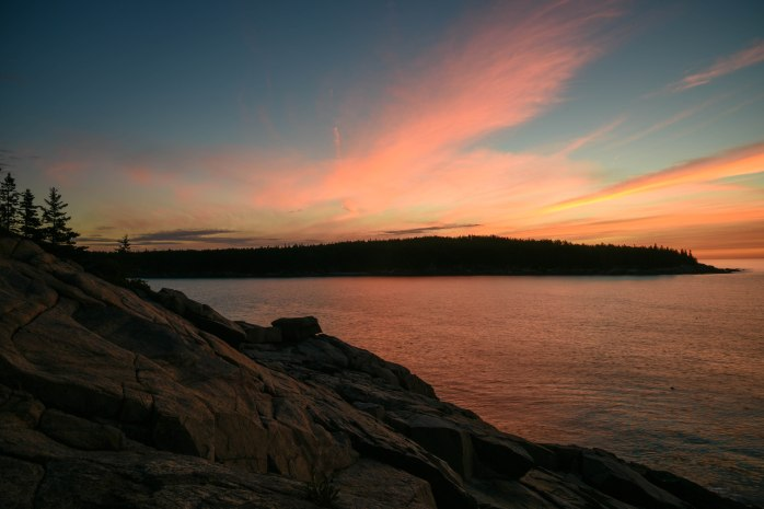 Between First Light and Sunrise over Otter Point (1 of 1)