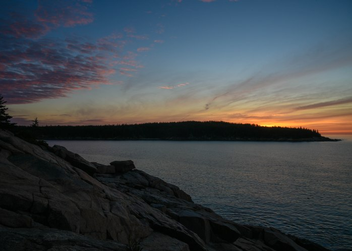 Between First Light and Sunrise over Otter Point 2 (1 of 1)