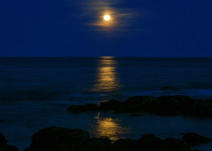 Harvest Moon rising off Mt. Desert Island 2 9.24.18 (1 of 1)