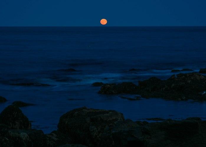Harvest Moon rising off Mt. Desert Island 9.24.18 (1 of 1)