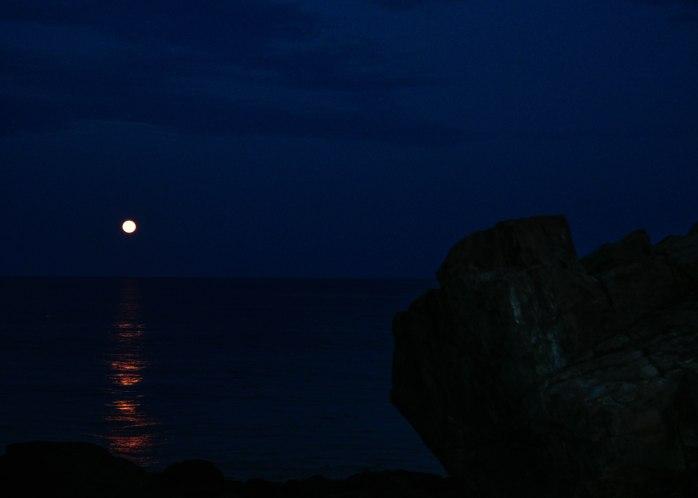 Lynn's Rock at full moon (1 of 1)