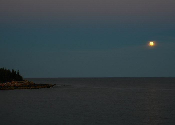 Moon rising near Otter Point (1 of 1)