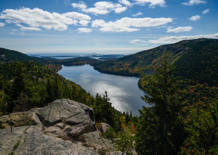 View from North Bubble Rock towards Jordan Pond (1 of 1)