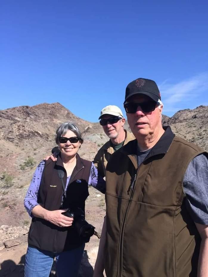 At Desert Bar hike to ridge